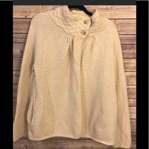 Ann Taylor Loft Ivory Sweater